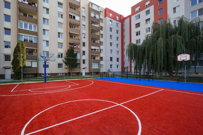 Basketbalové ihrisko – umelá tráva – Galanta - Marotrade