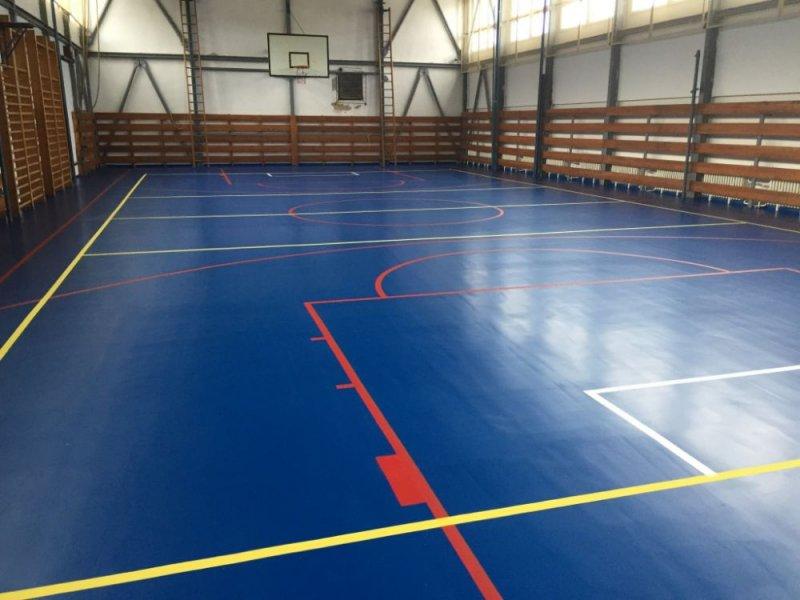 Podlaha telocvične - PU liaty povrch - Ružomberok - Marotrade
